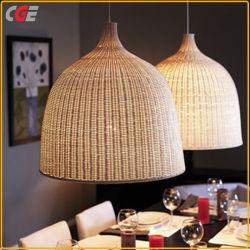 Leuchter-glockenförmige handgemachte dekorative hängende Decken-hängende helle Bambuslampenschirm-Leuchter-Lampen-Farbton-dekorative Lampe