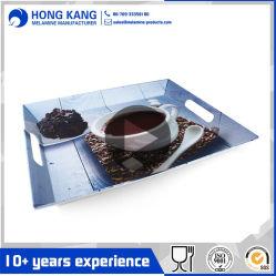 16/20pulgadas de diseño de la melamina, que sirve para el café de la bandeja de plástico