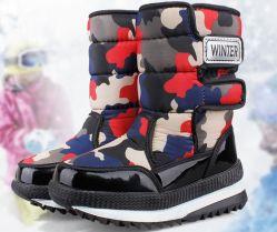 La neige de style militaire de l'armée d'amorçage de camouflage pour Garçon Fille chaussures