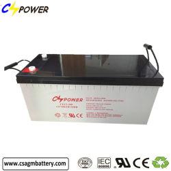 Fábrica de China mejor venta pilas recargables 12V 200AH VRLA Gel estándar UPS de la batería de almacenamiento de energía solar