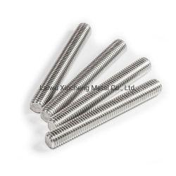 Aço inoxidável ASTM A193/A320 B8 B8m Gr B8 haste roscada de alta precisão