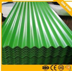Cor Prepainted Telhas Onduladas revestido a folha de metal metais galvanizados de ferro