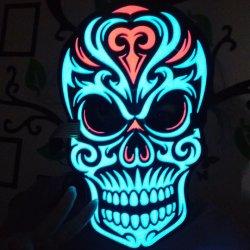LED réactive son Masque Masque Masque son crâne activé
