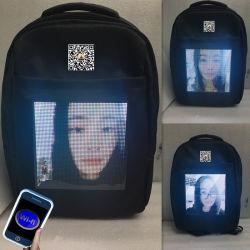 Nieuw! GPS APP van WiFi APP GPRS van de telefoon Programmeerbare Elektronische Backbag die het Teken van de Vertoning van het LEIDENE Vest van de Zak adverteren