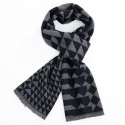 Tissus en acrylique classique Fashion Style Fringe hiver hommes Lady foulard