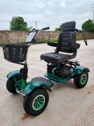 Одноместное сиденье на четыре колеса электрического поля для гольфа тележки