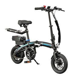 200-250W 12inch 안락 시트를 가진 지능적인 균형을 잡는 접히는 Ebike 전기 발동기 달린 자전거 Sepeda Listrik 소형 전기 자전거 정면과 후방 LED E 자전거