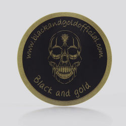 Sinicline Schädel-Kopf-Golddrucken-Schwarz-Aufkleber für Geschenk-Kästen