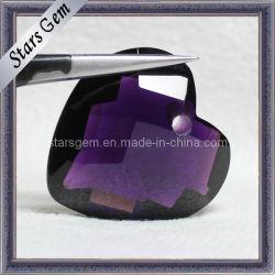 Forma de Corazón Púrpura Glass Bead