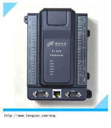 La temperatura amplia PLC T910 (8AI, 2AO, 12DI, 8DO) con RS485 Modbus RTU y Ethernet Modbus TCP