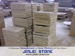 Natürlicher aufgeteilter Pflasterung-Stein-chinesischer hellgelber Sandstein