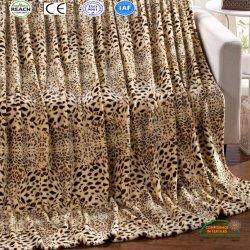 Leopard de l'impression Fashion Accueil jeter une couverture en laine polaire de corail
