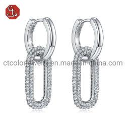 OEM/ODM 패션 925 스털링 실버 및 황동 맞춤형 귀걸이 핫 여성용 귀금속 판매 패션 악세사리 귀금속