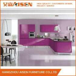 تصميم جديد من خشب PVC مطبخ خزانة مصنوعة في الصين