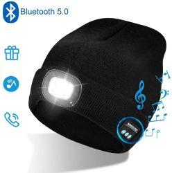 Мода акрилового волокна шерсти трикотажные индикатор Bluetooth наушников Beanie Xmas шапки подарки для содействия