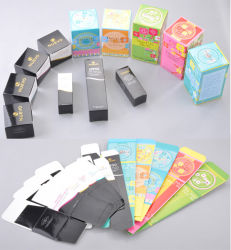 로고를 가진 Skincare 또는 장식용 싼 다채로운 피부 관리 또는 메이크업 접히는 선물 상자, 아트지 포장 상자