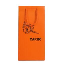 Carimbo Gloden Natal Artesanato garrafa de vinho de papelão da embalagem única garrafa sacos de papel para o vinho tinto armazenar com alça de fita