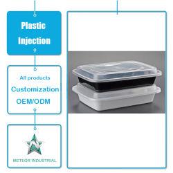 Personnalisée La vaisselle jetable en plastique contenant de fast food La boîte de rangement d'injection plastique