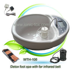 Fuß Bath Detoxifying Machine mit Far Infrared Belt und TEE N.S Massage Patches