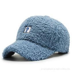 Venda por grosso de forma personalizada de lã de carneiro quente de Inverno Boné listrado