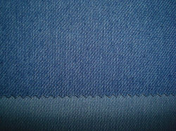 Bleu Indigo Denim Jersey stretch à armure sergé
