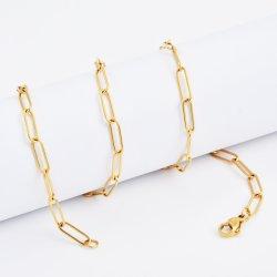卸売高品質ワイドリンクステンレススチール製ロングフラットケーブル チェーンネックレス Costume のネックレスの宝石類