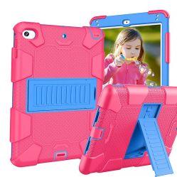 Housse en silicone résistant aux chocs PC Shell bouclier Couvercle du carter de la tablette pour enfants pour l'iPad 9.7