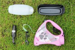 4 in 1 Multifunctionele Kabel van de Tractie van de Hond met de Fles van het Water, het Voeden Kom en Vuilniszak, het Lopen van de Hond van 3m Leiband voor Kleine Middelgrote Honden Esg12710