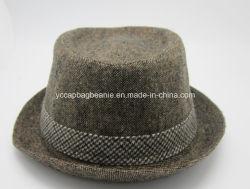 Cappello superiore del mago del feltro delle lane; Cappello del cappello a cilindro del feltro delle lane del Mens
