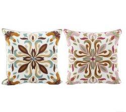 Baumwollkissen-Segeltuch-Wolle-Stickerei-dekorative Kissen-Deckel-Kissen-Kasten-Blumen-Entwurfs-Klassiker-Art