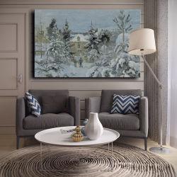 Venda por grosso de decoração de Alta Qualidade pintura a óleo, Decoração pintura, a arte da pintura de paisagem natural de inverno (Chinês)
