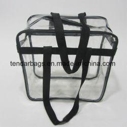Удалите пластиковый мешок для молнии из ПВХ прозрачные спорта женская сумка