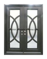 Moderner Entwurfs-Eisen-Innentür-kundenspezifische Sicherheits-Stahltür für Landhaus