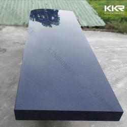 Anti-Scratch azul oscuro de la encimera de piedra artificial de la isla de cocina