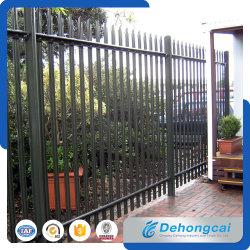 L'acier noir Backyard clôture métallique