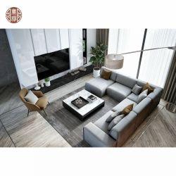 Hotel Apartment Custom Marmor TV Hintergrund Sofa Tisch Set