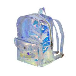 Mesdames Candy holographique de sac à dos en PVC étanche Mini sac transparent Schoolbag gelée Laser