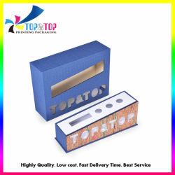 Blue papel especial cajas de embalaje de cosméticos de color