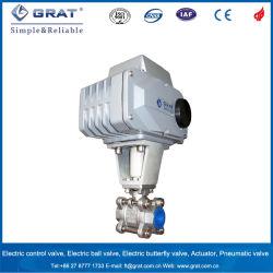 15度Vの電気弁のアクチュエーターを搭載するポートの正規の球弁