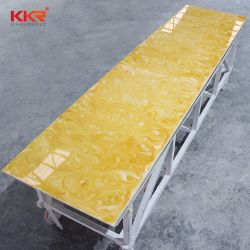 Resistente a manchas pedra artificial translúcido Resina Painel de Pedra