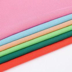 Novidade Top Quality CVC 66%C34%T teia de algodão Tecidos de malha de Distribuição de costela para T-shirt Dress