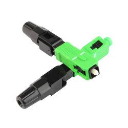 高性能Sc Upc APC緑FTTHの光ファイバ視覚の速いコネクターはコネクター絶食する