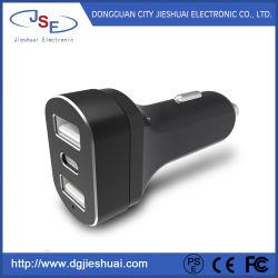 Caricatori doppi dell'automobile del USB con tipo porta di C per Apple e le unità Android