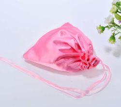 Розовый атласный подарочный пакет с кружевом нижнее белье пакет пакет