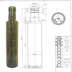 250 мл оливкового масла зеленого цвета Antoque Dorica стеклянную бутылку в винт верхней части