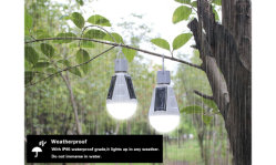 Verlichting die van de Lantaarn van de navulbare 7W E27 LEIDENE Noodsituatie van de Bol de wijd gebruikt