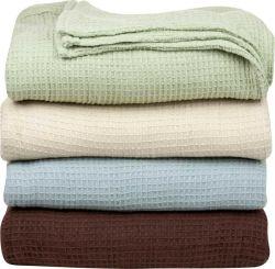 El lujo de algodón a cuadros tejidos textiles para el hogar Manta Waffle