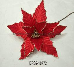卸し売り高品質のクリスマスによっては赤い頭状花のポインセチアの薮の花束Xmasの木の装飾が開花する