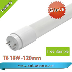 Factory Hot Sale 60cm 120cm 2ft 4ft 9W 18W à LED en verre tube T8 6500K Tube LED lumière fluorescente