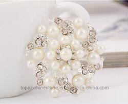 Оптовая торговля Brooch моды джокер Rhinestone алмазов и Pearl Brooch (BR-19)
